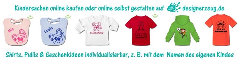 designerzeug.de - Kindersachen online kaufen oder online gestalten